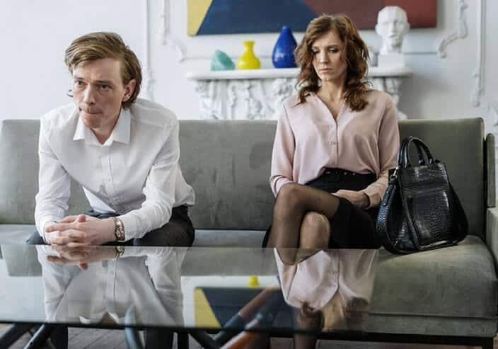 pareja en proceso de divorcio